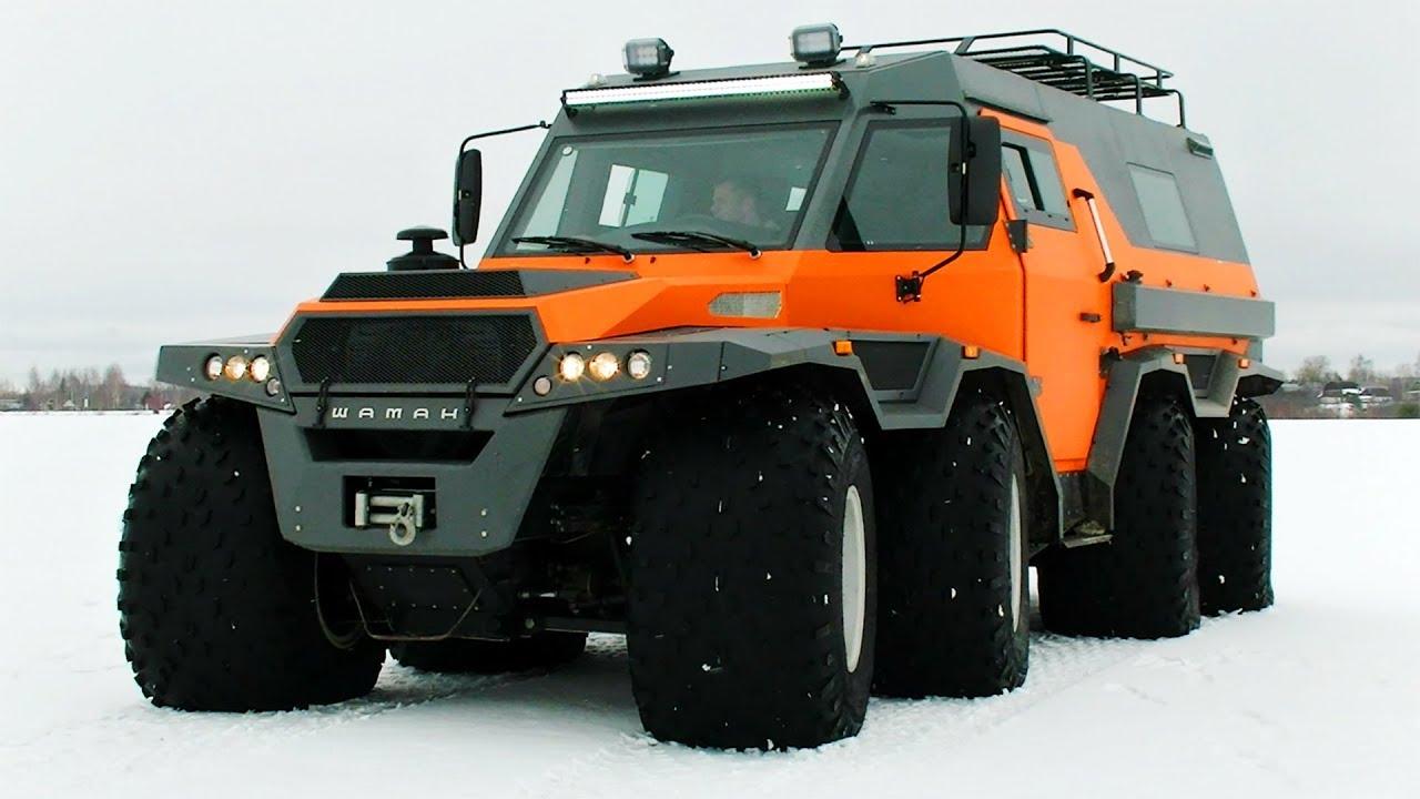 Huge 8 wheels ATV Shaman! Like a spaceship! - YouTube