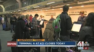 Terminal A at Kansas City International Airport closes Jan. 8