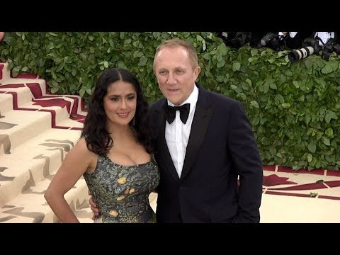 Salma Hayek on the red carpet for the MET Costume Institute Gala