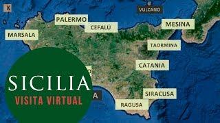 Sicilia - Visita virtual desde el aire