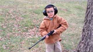 My 6 Year Old Son Squirrel Hunting With His New .22 Cricket