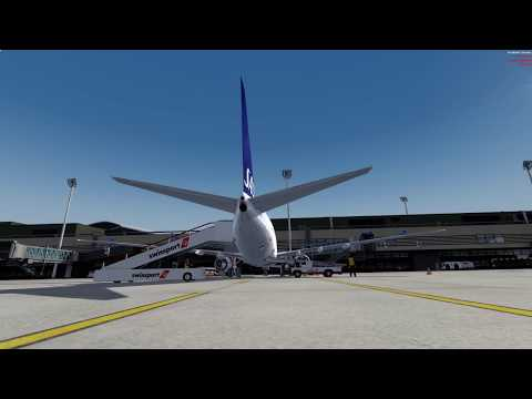 Great update to Aerosofts Zurich. Fun departure with PMDG NGX flying to stockholm [1/2]