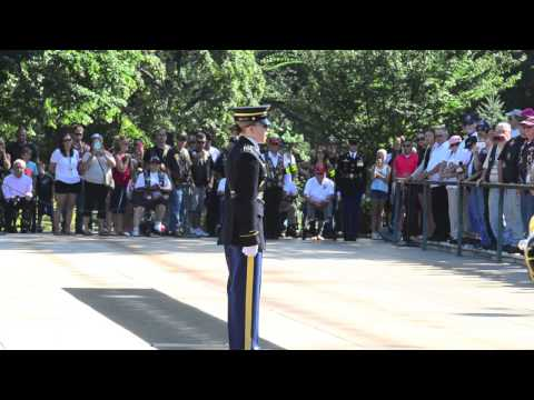 Wreath Laying - Tomb Of The Unknown Soldier - PGRNY And Iwo Jima Survivors