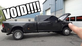VOIDING THE WARRANTY ON OUR BRAND NEW TRUCK!!!! UNDER 1000 MILES!!!