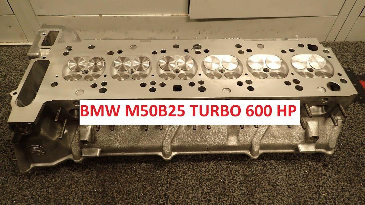BMW M50B25 600 hp turbo cylinderhead build