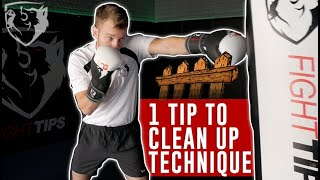 1 Tip to CLEAN UP Your Punch (& Kick) Technique
