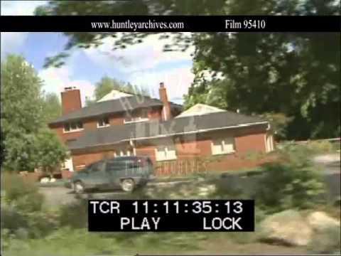 Leafy Detroit Suburbs, 1993.  Archive film 95410