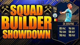 EPIC TOTY DE BRUYNE SQUAD BUILDER SHOWDOWN! FIFA 18 ULTIMATE TEAM