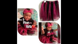 How to make a newborn/baby No Sew Tutu!! (D.I.Y.)