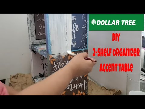 🔨DOLLAR TREE DIY  3-TIER CUBE ORGANIZER FURNITURE ~ MULTIPURPOSE ORGANIZER