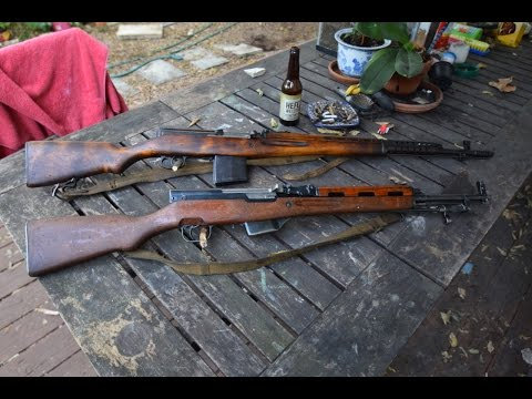 SVT-40 and SKS rifles