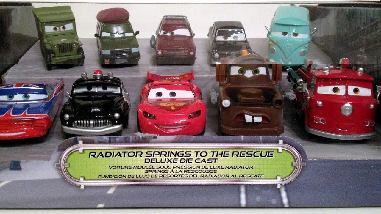 10-CARS Radiator Springs To The Rescue Set Cars 2 Corporal