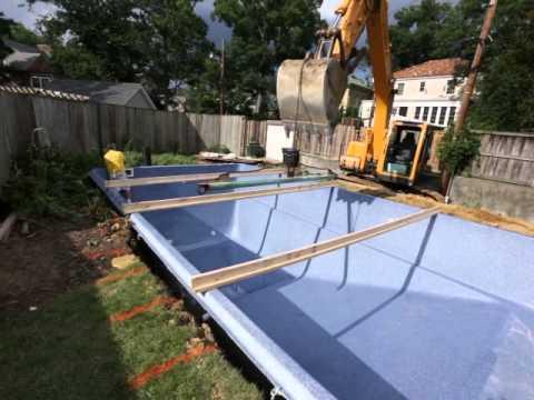 Fiberglass Pool Installation 21 Braces