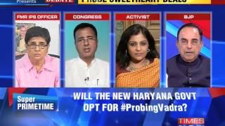 The Newshour Debate: Centre for Probing Robert Vadra - Part 1 (23rd Oct 2014)