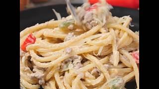 рецепт пасты с фаршем в сливочном соусе