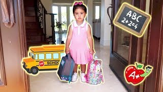 ELLE\'S FIRST DAY OF SCHOOL!!! (THE CUTEST BABY STUDENT)