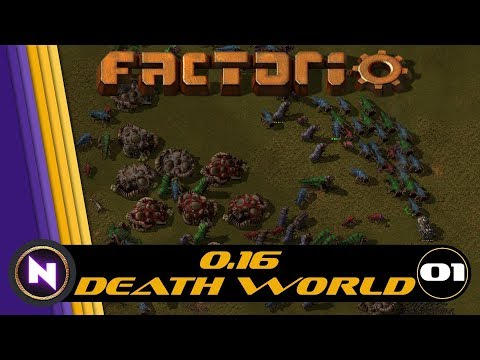 Factorio 0.16 Death World - E01 EVERYTHING IS AWESOME
