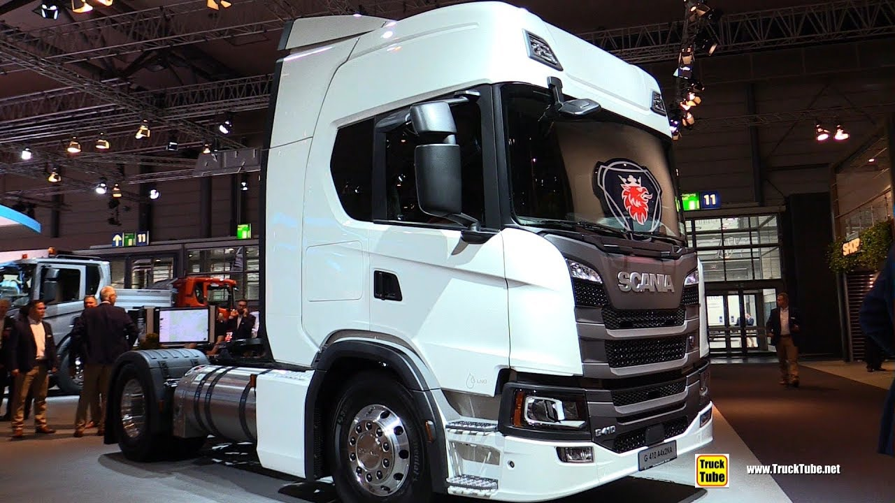 2019 Scania G410 A4x2 LNG Tractor - Exterior and Interior Walkaround - 2018 IAA Hannover - YouTube