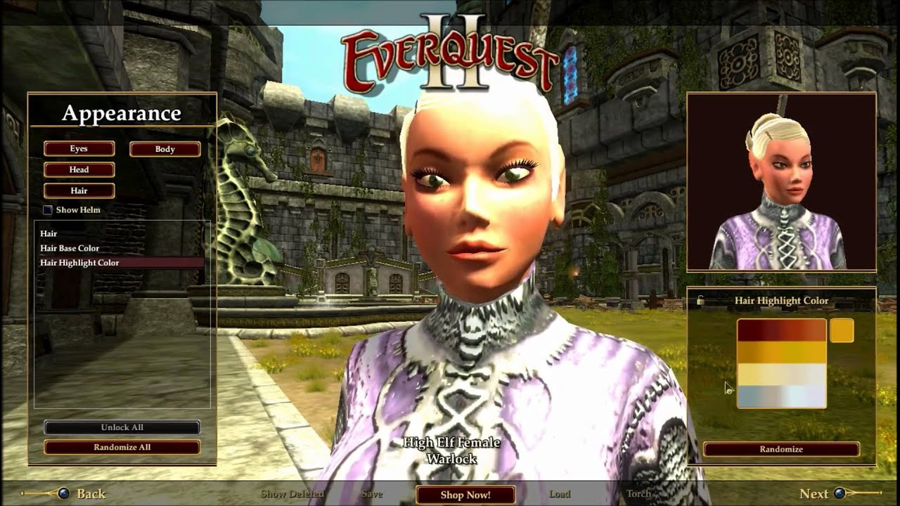 Everquest 2 Character Creation - Year of Clean Water