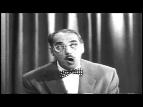 Groucho Marx-Albert Hall TV iCON - YouTube