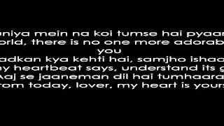 Dil Hai Tumhara - With English Translation & Lyrics.avi