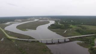 Little Bay and Wolf River into the Bay Saint Louis Pass Christian MS