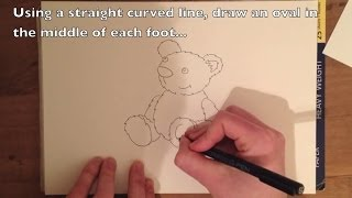 How to Draw a Teddy Bear - Easy Step by Step Tutorial to Draw a Cartoon Bear