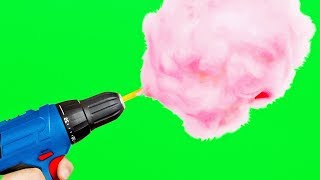 10 YUMMY IDEAS WITH CANDIES || DIY COTTON CANDY