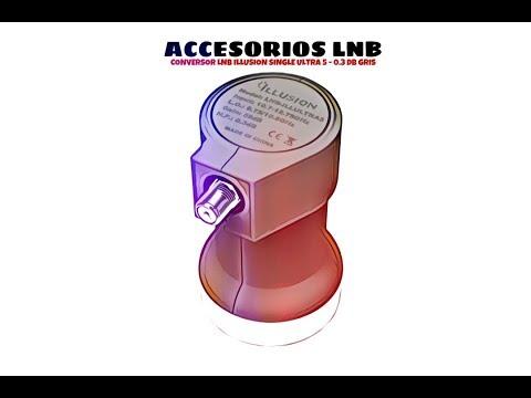 Video de Conversor LNB Illusion Single Ultra 5 - 0.3DB  Gris