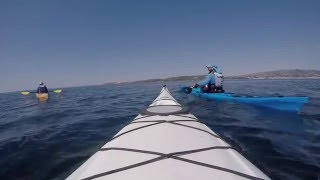 Sea kayaking Kefalonia Greek Island Argostoli to Vardiani Island GoPro Hero4