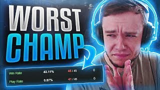 WORST CHAMPION IN LEAGUE OF LEGENDS? Rework #200 Incoming?!