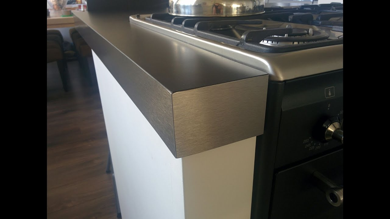how to cut stainless steel countertop