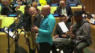 "Dimitri Vassilakis ""Pasiphae's Dance"" Jazz Democracy at the United Nations"