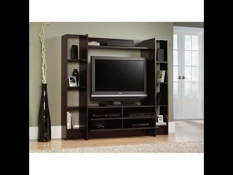 Sauder Beginnings Cinnamon Cherry Entertainment Wall System For Tvs Up To 42
