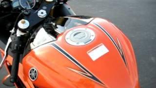 2009 Yamaha R6 Special Edition Black & Orange Stock Walk Around Part 2 YZF R-6