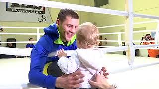 Беринчик - папа с дочкой в ринге