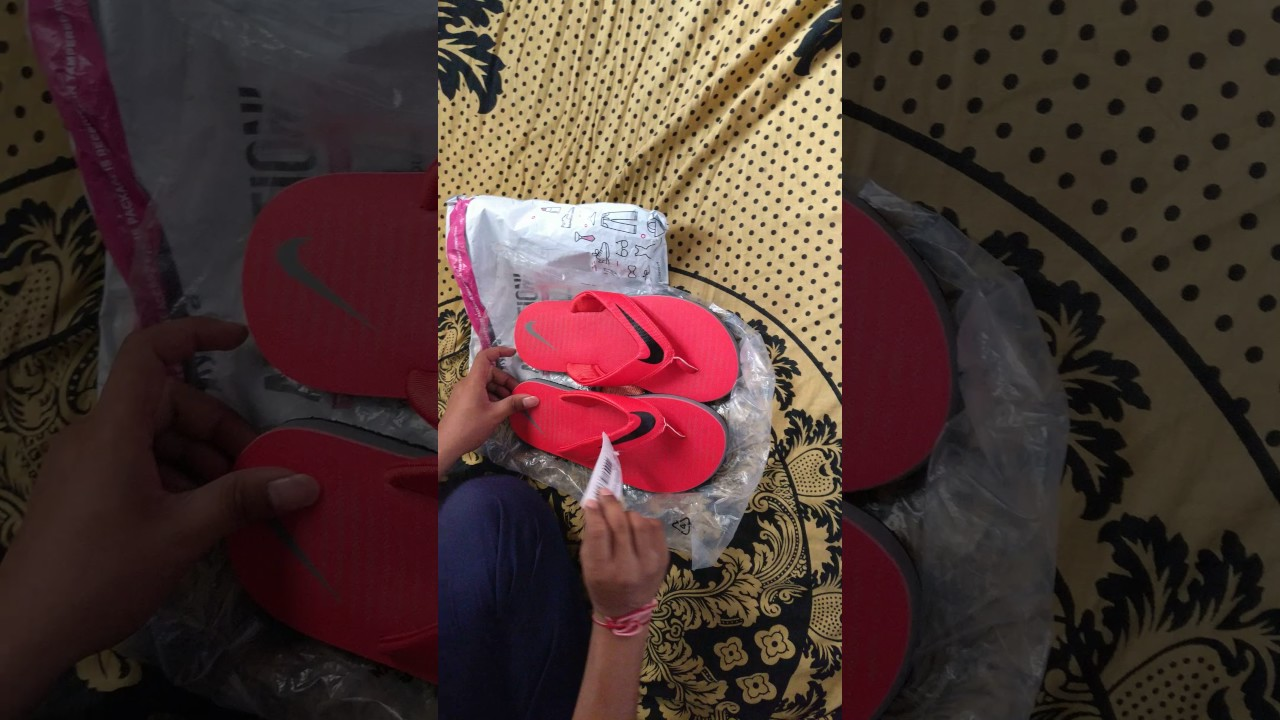 361a1ba3fa05 NIKE CHROMA THONG 5 (RED COLOUR) flip-flops unboxing - YouTube