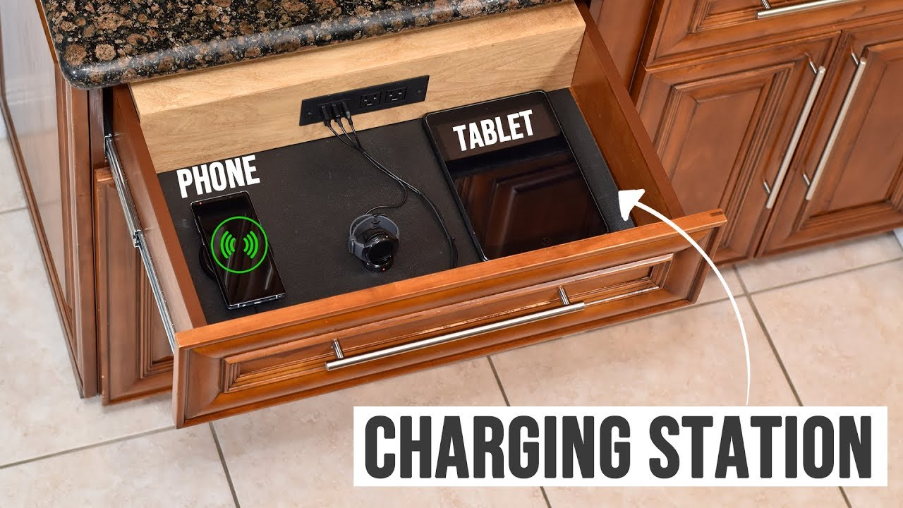 turn any drawer into a charging station drawer organization