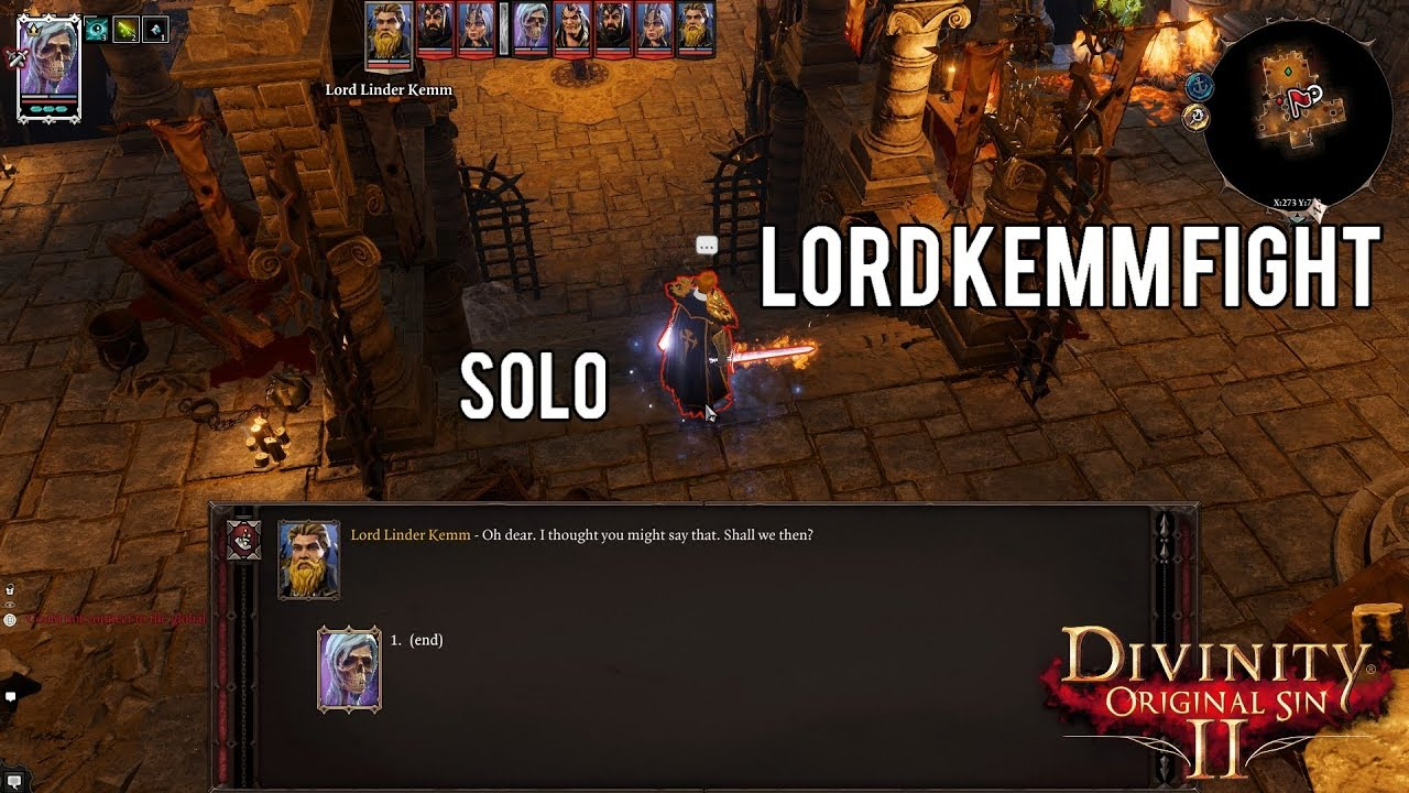 Divinity: Original Sin 2 {SOLO} Lord Kemm fight by Sep!