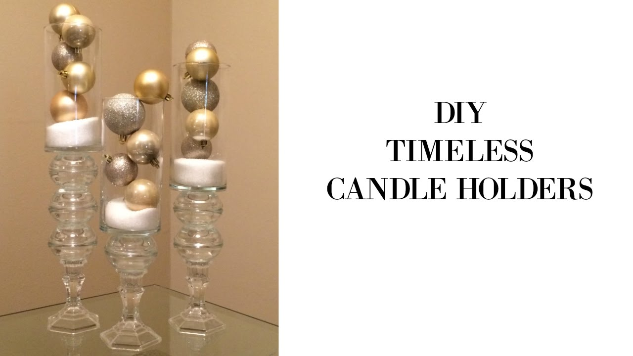 DIY Glass Candle Holder Design