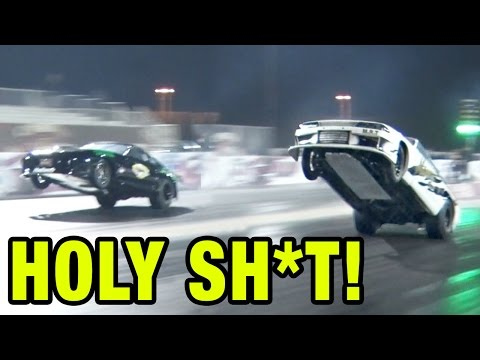 Skyline GT-R TAKES OFF - No Wheelie Bars ALLOWED!