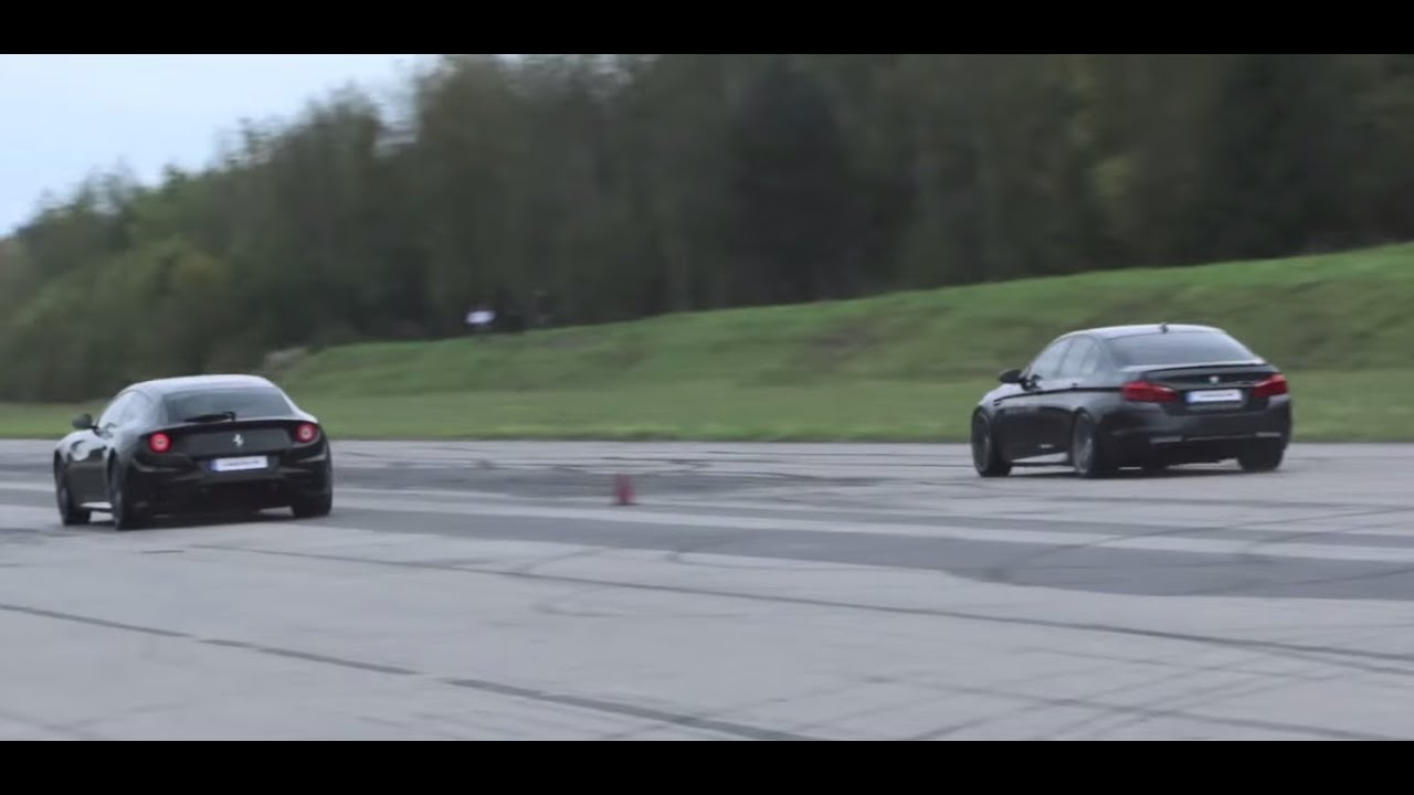 Ferrari FF vs BMW M5 F10 - YouTube