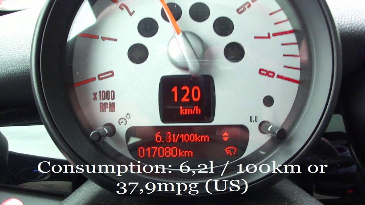 Mini Cooper S Fuel Consumption Test Youtube