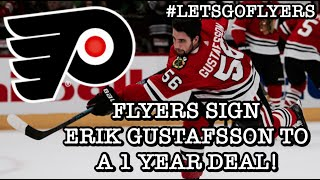 Flyers sign Defenseman Erik Gustafsson to a 1-year Deal! | #LetsGoFlyers -  YouTube