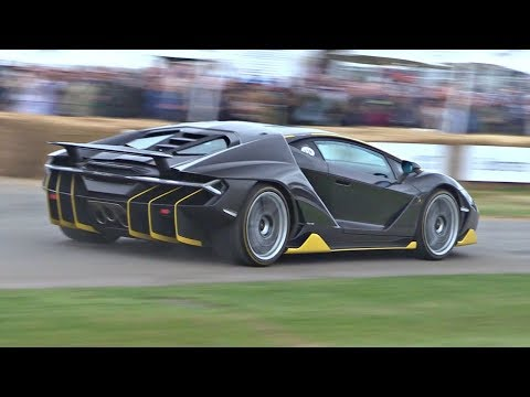 Lamborghini Centenario Launch Control Accelerations & LOUD Sounds!