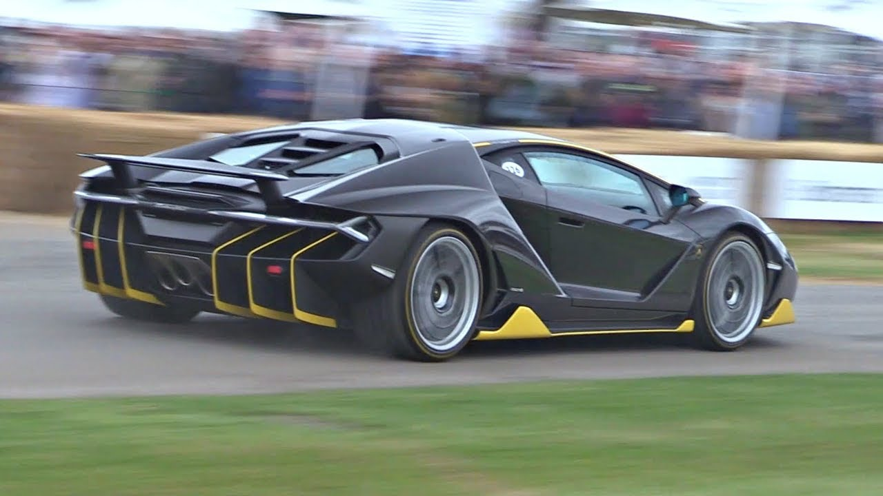Lamborghini Centenario Launch Control Accelerations Loud Sounds