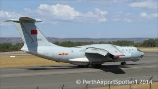 Chinese Military Ilyushin IL-76MD/TD 21045 -  Taking Off Runway 03 at Perth Airport YPPH