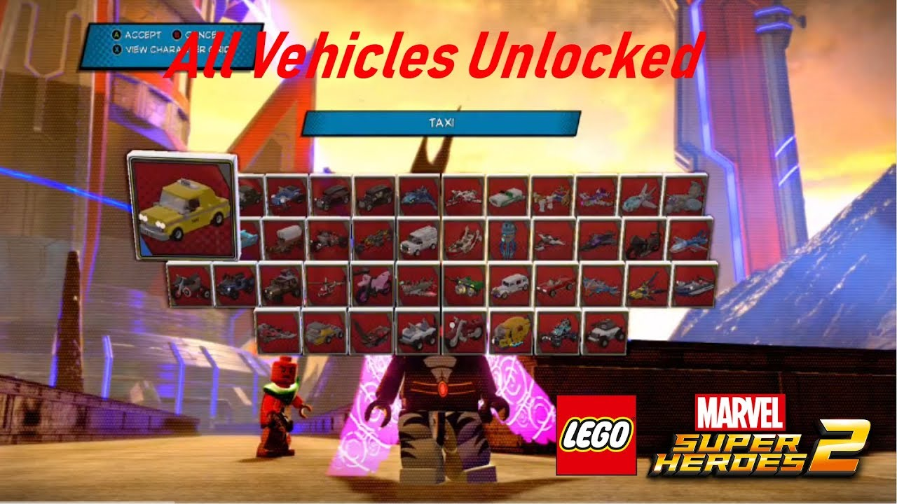 Lego Marvel Superheroes 2 All Vehicles Unlocked!! - YouTube