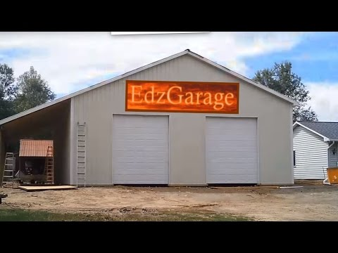 EdzGarage Pole Barn Build Time-Lapse Start to Finish