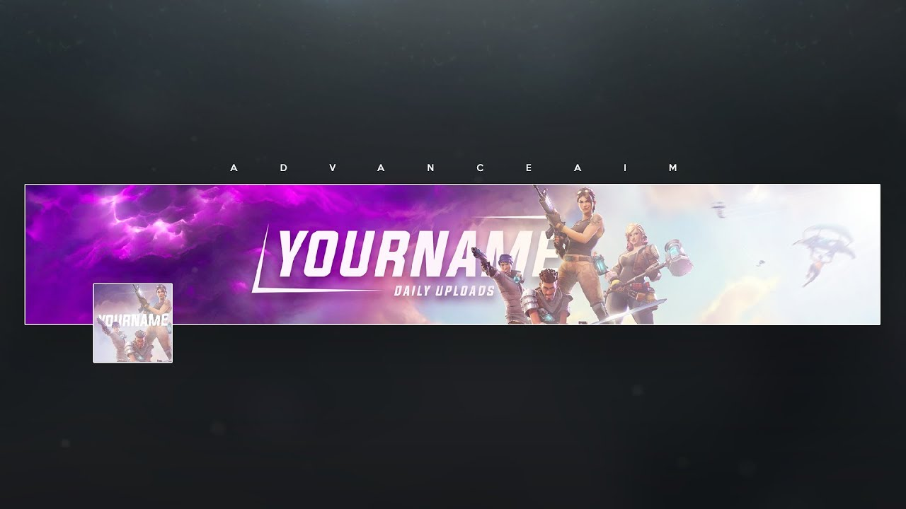 Fortnite Banner Template (Free) + Tutorial - YouTube